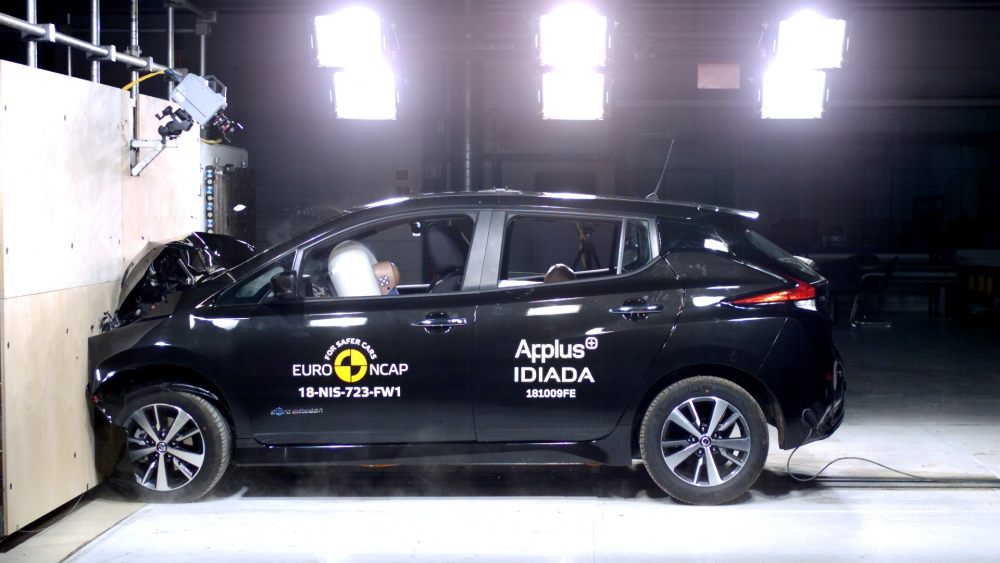 Nissan Leaf crash test 2018.